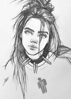 El art art inspo en 2019 art sketches, pencil art y drawings Cool Art Drawings, Pencil Art Drawings, Art Drawings Sketches, Drawing Faces, Drawing Girls, Drawing Drawing, Modern Drawing, Art Du Croquis, Arte Sketchbook