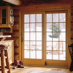 French patio doors from Renewal by Andersen bring the beauty of outdoors inside. Our sliding French doors offer space-saving convenience in a sleek design. Wooden Sliding Doors, Sliding French Doors, French Patio, French Doors Patio, Traditional Interior Doors, Door Design Interior, Elegante Designs, Exterior Doors, Westerns
