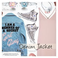 """""""Wardrobe Staple: Denim Jackets"""" by totwoo ❤ liked on Polyvore featuring High Heels Suicide, Topshop, Converse and NARS Cosmetics"""