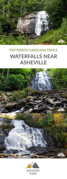 Waterfalls near Asheville, NC: our top 10 favorite hikes Hike to the most popular, most beautiful and most scenic waterfalls near Asheville on our top ten favorite trails in western NC. Waterfalls Near Asheville Nc, Nc Waterfalls, North Carolina Waterfalls, Tennessee Waterfalls, Nc Mountains, Appalachian Mountains, Oh The Places You'll Go, Places To Travel, Places To Visit