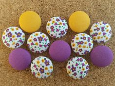 Check out this item in my Etsy shop https://www.etsy.com/listing/463607526/thumbtack-set-12-pc-push-pin-set
