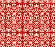 Valentine Damask fabric by laurawilson on Spoonflower - custom fabric