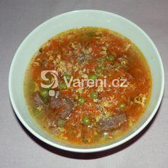 Hovězí polévka od babičky recept - Vareni.cz Salsa, Ethnic Recipes, Essen, Salsa Music