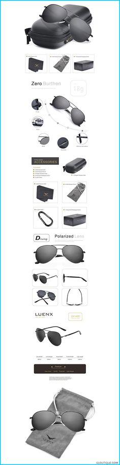 b1d0a4051c  women LUENX Aviator Sunglasses Polarized for Men Women with Sun Glasses  Case - UV 400
