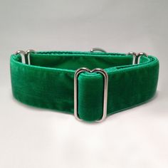 1.5 inch Martingale Collar with St. Patrick's Day Green Velvet Ribbon by fabcollarhounds