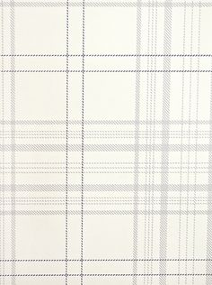 Rakel Plaid Wallpaper Off white and grey plaid wallpaper with thin charcoal window check.