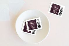 Gathered Branches Wedding Stamps by Jessica Williams at minted.com