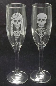 Perfect for a Halloween or Day of the Dead wedding.