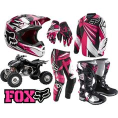 Nothing better than looking good while getting down and dirty! Motocross Outfits, Motocross Gear, Dirt Bike Gear, Dirt Biking, Fox Racing Clothing, Fox Rider, Four Wheelers, Riding Gear, Lady Biker