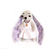 Rabbit handmade bunny OOAK Teddy friends by Textilledolljulia