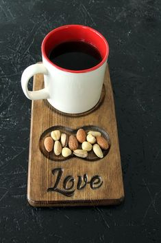 Teds Woodworking® - Woodworking Plans & Projects With Videos - Custom Carpentry - Valentine Day Gift Breakfast Table Gift for Couples Love Coffee Bar Home, Coffee Cafe, Coffee Shop Design, Cafe Design, Wooden Projects, Wood Crafts, Café Bar, Wood Creations, Cafe Interior
