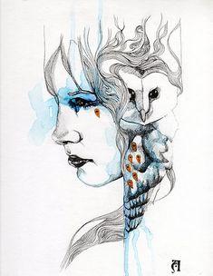 'Totem by Patricia Ariel Clock Art, Amazing Drawings, Cool Paintings, Face Art, Beautiful Artwork, Spirit Animal, Pet Portraits, Art Inspo, Vector Art