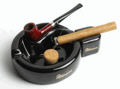Peterson Black Ceramic Pipe Stand & Cigar Ashtray