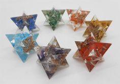 7 Chakra Stones Orgone Merkaba Star Set Sacred Geometry Balancing