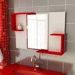 banheiros pequenos vermelho