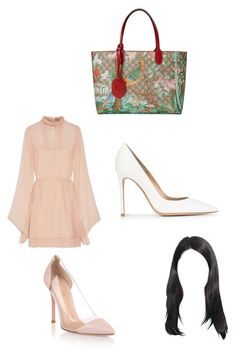 """""""Untitled #1466"""" by alessiaaaaaaaaa ❤ liked on Polyvore featuring Gucci, Emilio Pucci and Gianvito Rossi"""