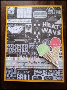 "Sparkliie Creations: Simon Says Stamp Card Kit August 2014 ""Summer Dreams""."