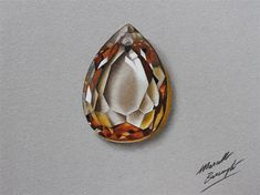 Marcello Barenghi: Drawing a golden yellow topaz Pencil Drawing Pictures, Cool Pencil Drawings, Realistic Drawings, Gem Drawing, Jewelry Design Drawing, Jewellery Sketches, Jewelry Sketch, Jewelry Illustration, Epic Art