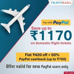 Travel more, save more by making flight booking payments via PayPal. Link in Bio.  #TravoBaba #PayPaloffer #flightoffer Domestic Flights, How To Apply, Tours, Link, Travel, Viajes, Trips, Traveling, Tourism