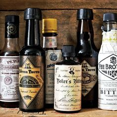 (3) Collection of bitters for cocktails. | The Man | Pinterest