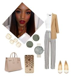 """""""Spring Chill"""" by awksilence on Polyvore featuring GUESS, Nicholas, Topshop, Christian Louboutin, Miss Selfridge, Forever 21, Yves Saint Laurent, cool, Earth and tones"""