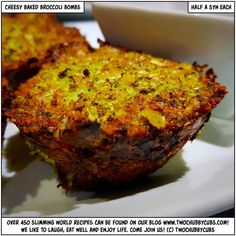 Looking for an unusual but tasty veggie snack? These cheesy baked broccoli bombs are the business - low in syns, but super high in taste! Veggie Snacks, Slimming World Recipes, Fritters, Meatloaf, Broccoli, Veggies, Tasty, Healthy Recipes, Baking