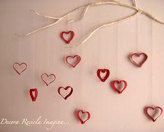 coração com rolo de papel higiênico