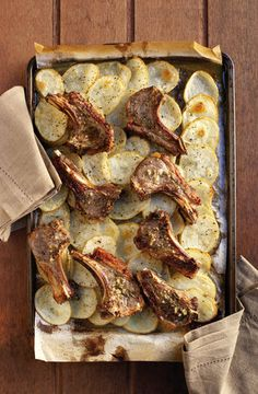 Lamstjoppie-en-aartappelgebak | SARIE | Lamb chops  with potato bake