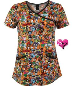 If I worked in a medical office I would totally rock Tokidoki scrubs.