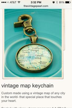 Cool keychain from The Vintage Pearl.