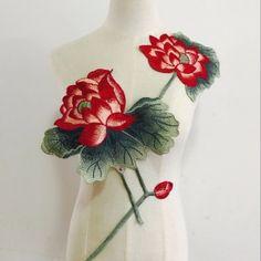 Lotus Ethnic Style Soluble Embroidery Lotus Patches Flower Applique Ethnic Style, Flower Applique, Ethnic Fashion, Lotus, Patches, Embroidery, Flowers, Rug, Lotus Flower