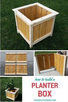 How to Build a Planter Box - The Creative Mom #easydeckstobuild