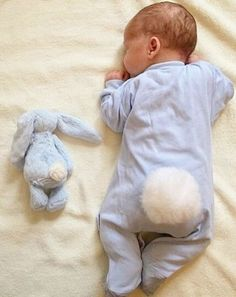 baby, boy, and bunny