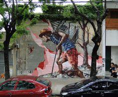 FINTAN MAGEE http://www.widewalls.ch/artist/fintan-magee/ #graffiti #street #art