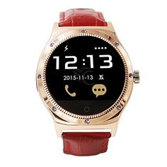 """Generic 1.22"""" Bluetooth Heart Rate Detection Smart Watch with Sleeping Mornitor (gold). Sync such as LINE, Instagram Facebook (message), Gmail, CNN App, ZAKE, etc. With pushing message(Android smart watch installed APP can support information push): such as MMS, QQ, Wechat, news title, calendar events, etc. SMS: Support (need APP, Android&IOS system needs to install BT4.0 APK). Thermometer, Call Answer, Week, Altimeter, SMS Reminding, Pedometer, Phone book, Stopwatch, Music Player, Date..."""