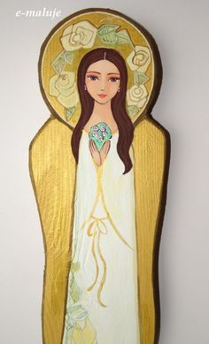 Catholic Art, Religious Art, Angel Images, Religion Catolica, Angel Crafts, Holy Mary, Angel Art, Blessed Mother, Mother Mary