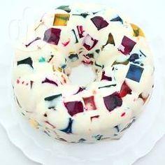 Stained Glass Jelly Cake @ allrecipes.com.au