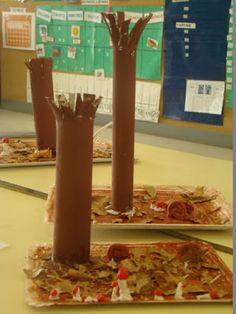 Els nostres moments a l'aula d'infantil: El bosque en otoño