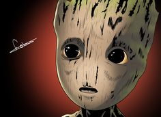 This is my take on Baby Groot from 'Guardians Of The Galaxy Vol.2' You can watch the speed drawing video for this piece here https://youtu.be/8bcpYDzjJvg