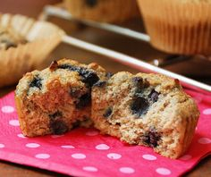 Banana blueberry muffins - coconut flour