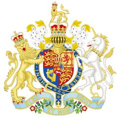 Coat of Arms of the United Kingdom from 1837 to 1952 used by Queen Victoria, King Edward VII, George V, Edward VIII and George VI. House Of Stuart, Royal Marriage, Empire Romain, Church Of England, England Ireland, Kingdom Of Great Britain, Family Crest, Royal House, European History