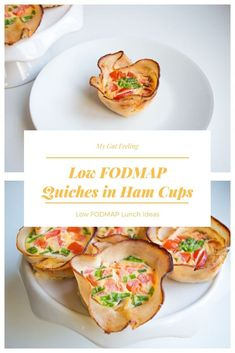 These low FODMAP mini quiches in crispy ham cups are easy to make and perfect for a packed lunch or a party. They are also gluten free and lactose free. Lactose Free Diet, Lactose Free Recipes, Fodmap Recipes, Mini Quiches, Fodmap Meal Plan, Fodmap Breakfast, Breakfast Healthy, Healthy Lunches For Work, Work Lunches