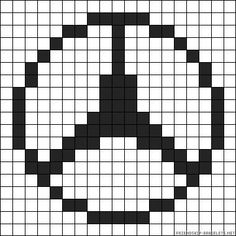 Hama Beads Patterns, Beading Patterns, Crochet Chart, Bead Crochet, Logo Mercedes, Pixel Art, Pixel Drawing, Beading Tools, Alpha Patterns