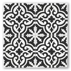 Save or Splurge Black White Floor Tile Black and white tiles
