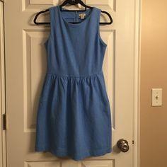 J.Crew Factory Baby Blue Dress w/ Pockets Excellent condition. Pockets! J. Crew Dresses Midi
