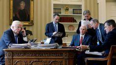 Der Rücktritt von Trump-Berater Flynn und irritierende Äußerungen des US-Präsidenten über die Krim haben in Russland die Frage nach der Macht tiefer Strukturen über gewählte Amtsträger aufgeworfen. Das offizielle Moskau hält Spekulationen aber für verfrüht.