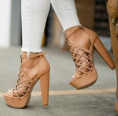 47 High Heel Shoes For Work - Shoes - Damenschuhe Lace Up Heels, Pumps Heels, Stiletto Heels, Sandal Heels, Gladiator Sandals, Nude Sandals, Tan Heels, Brown Heels, Girls Shoes