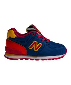 Look at this #zulilyfind! Blue & Yellow 574 Infant Sneaker by New Balance #zulilyfinds