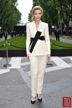 Cate Blanchett attends the Giorgio Armani 40th Anniversary event in Milan, Italy in Giorgio Armani.
