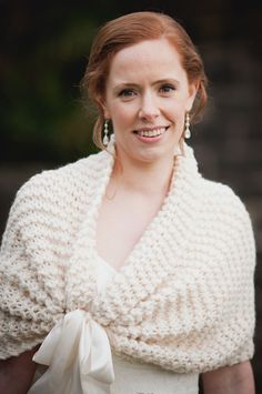 I will custom make this knit cape for you for your wedding day. This lovely wrap is the perfect shawl for your wedding to give you a little cover
